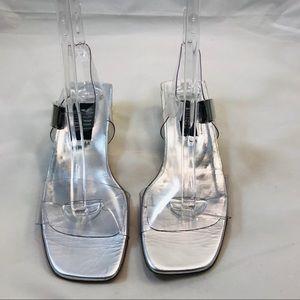 Stuart Weitzman Clear Jelly Sandals Size 9.5 AA